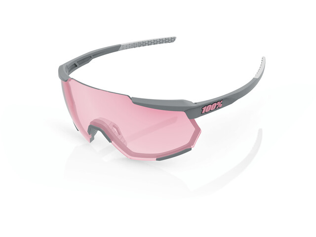 100% Racetrap Occhiali, soft tact stone grey/hiper multilayer mirror